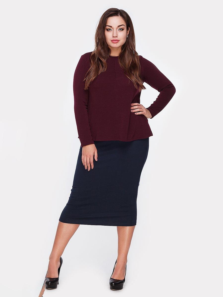 Блуза цвета марсала | 5105133