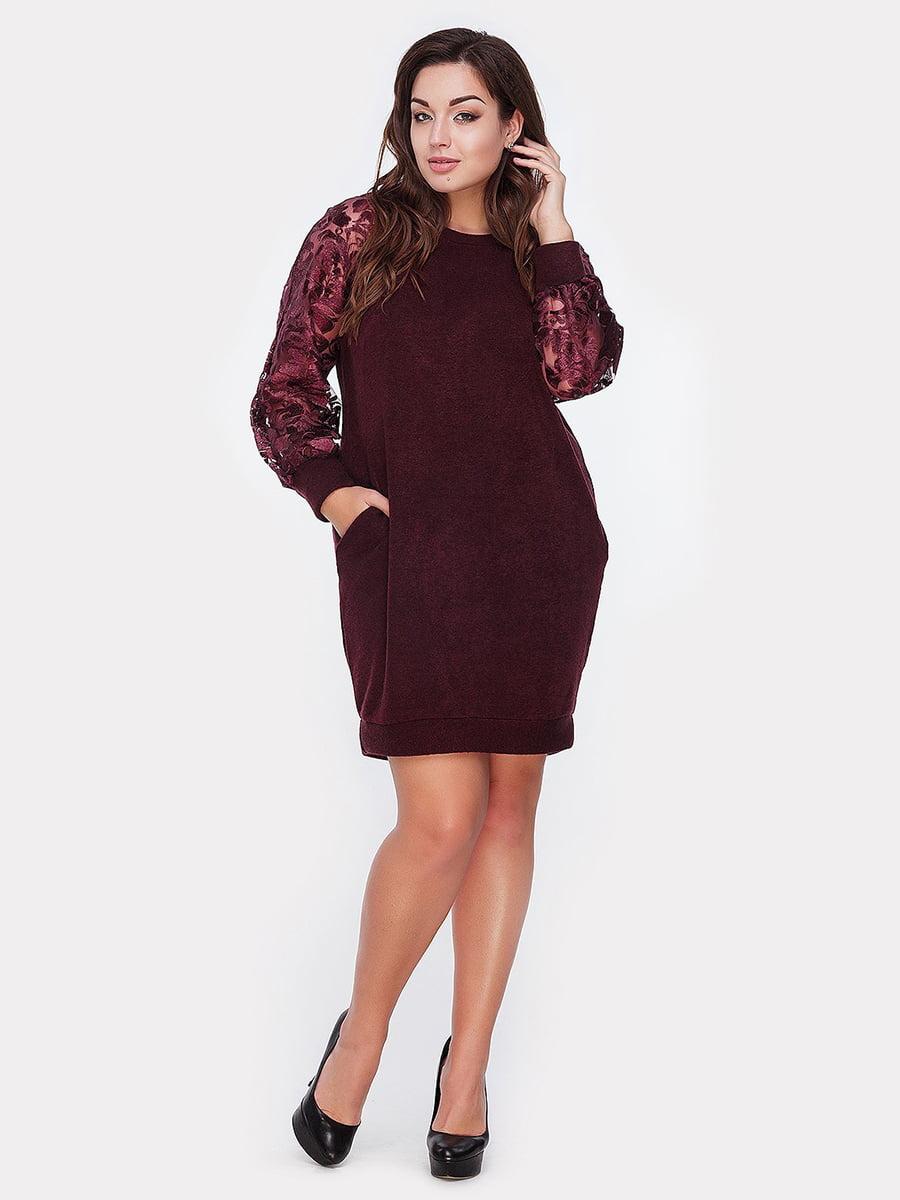 Платье бордовое | 5105136