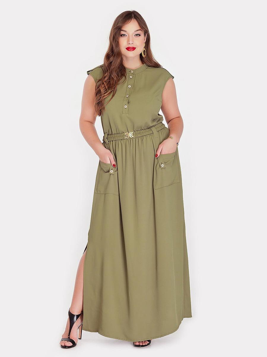 Платье цвета хаки | 5115497