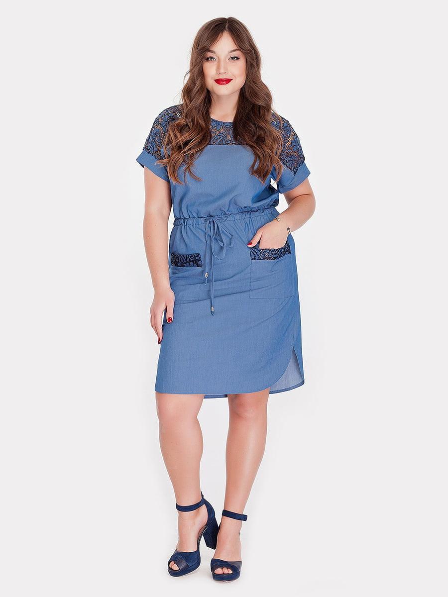 Платье голубое | 5115504
