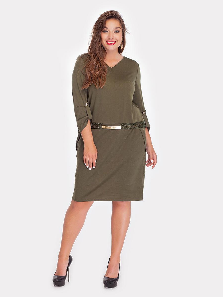 Платье цвета хаки | 5124499