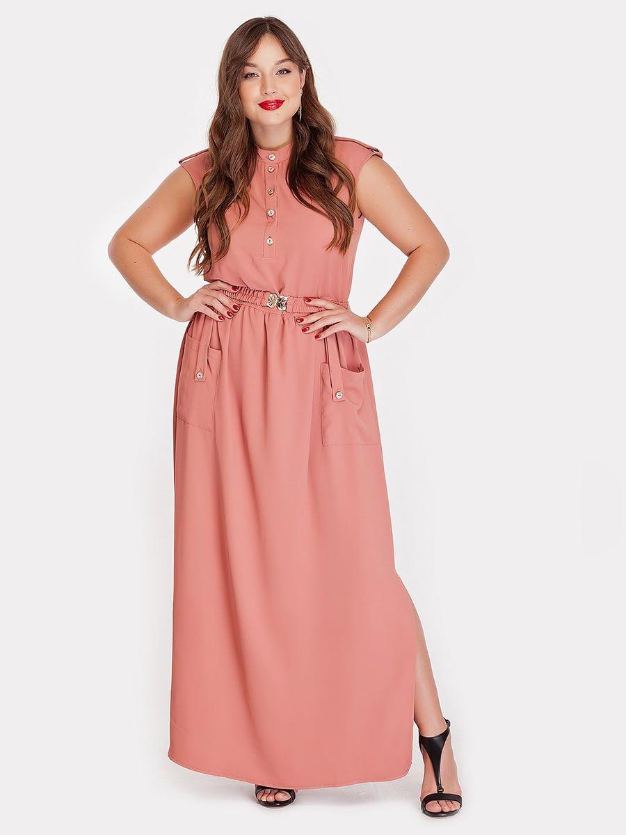 Платье персикового цвета | 5168689