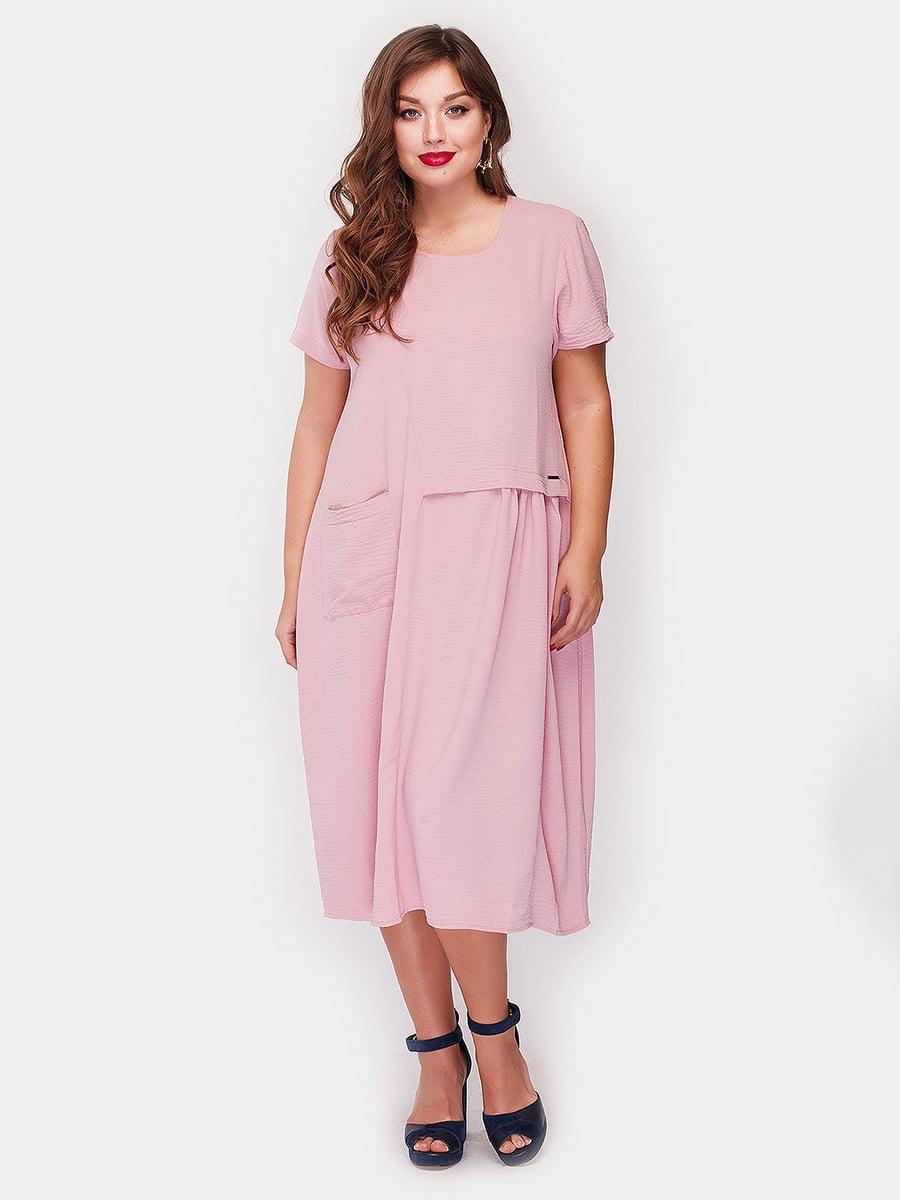 Платье фрезового цвета | 5168702