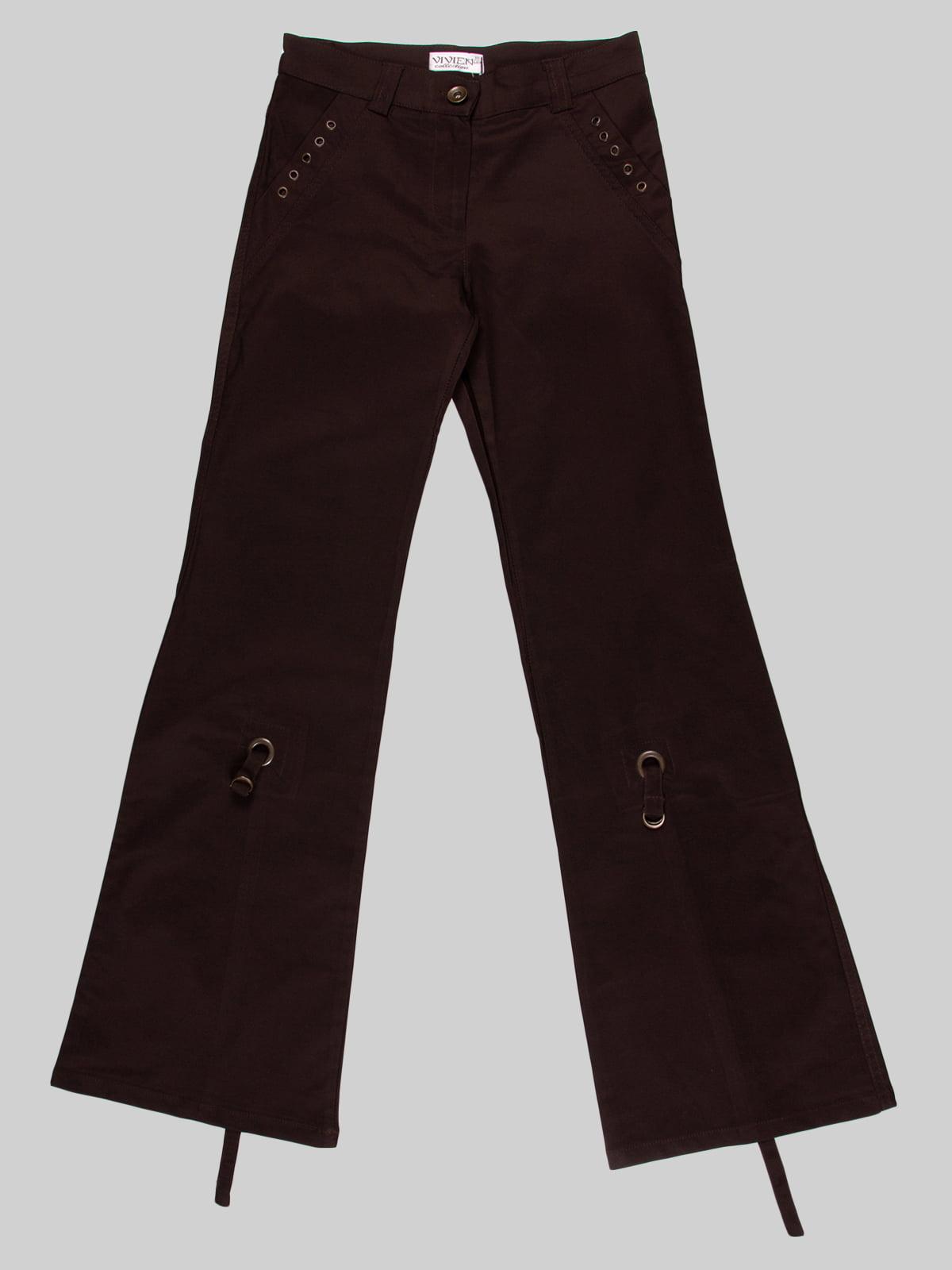 Штани коричневі | 4604400