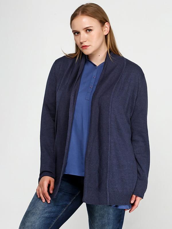 Кардиган серо-синий | 5169088