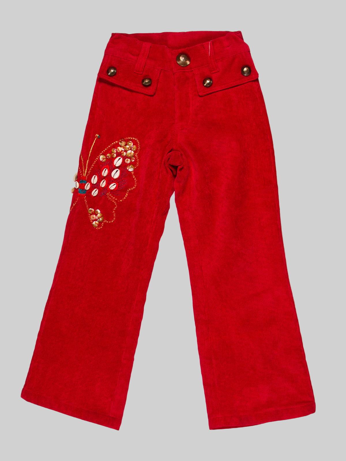 Штани червоні | 2913318
