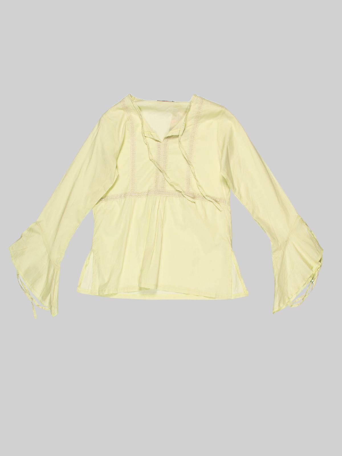 Блуза салатового цвета | 3168536