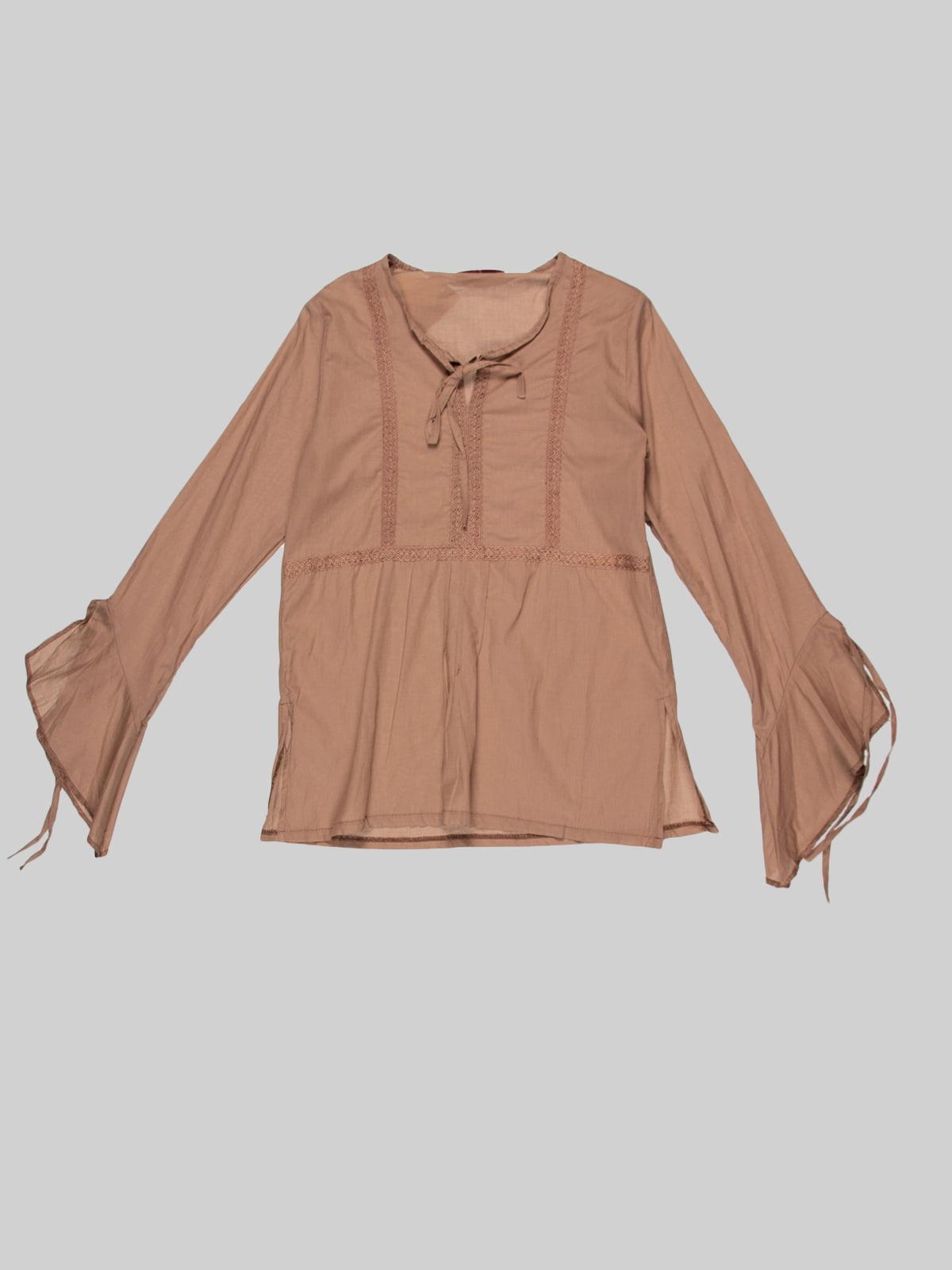 Блуза коричнева | 3168535