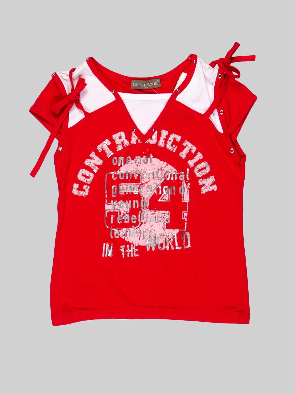Футболка красная | 3168565