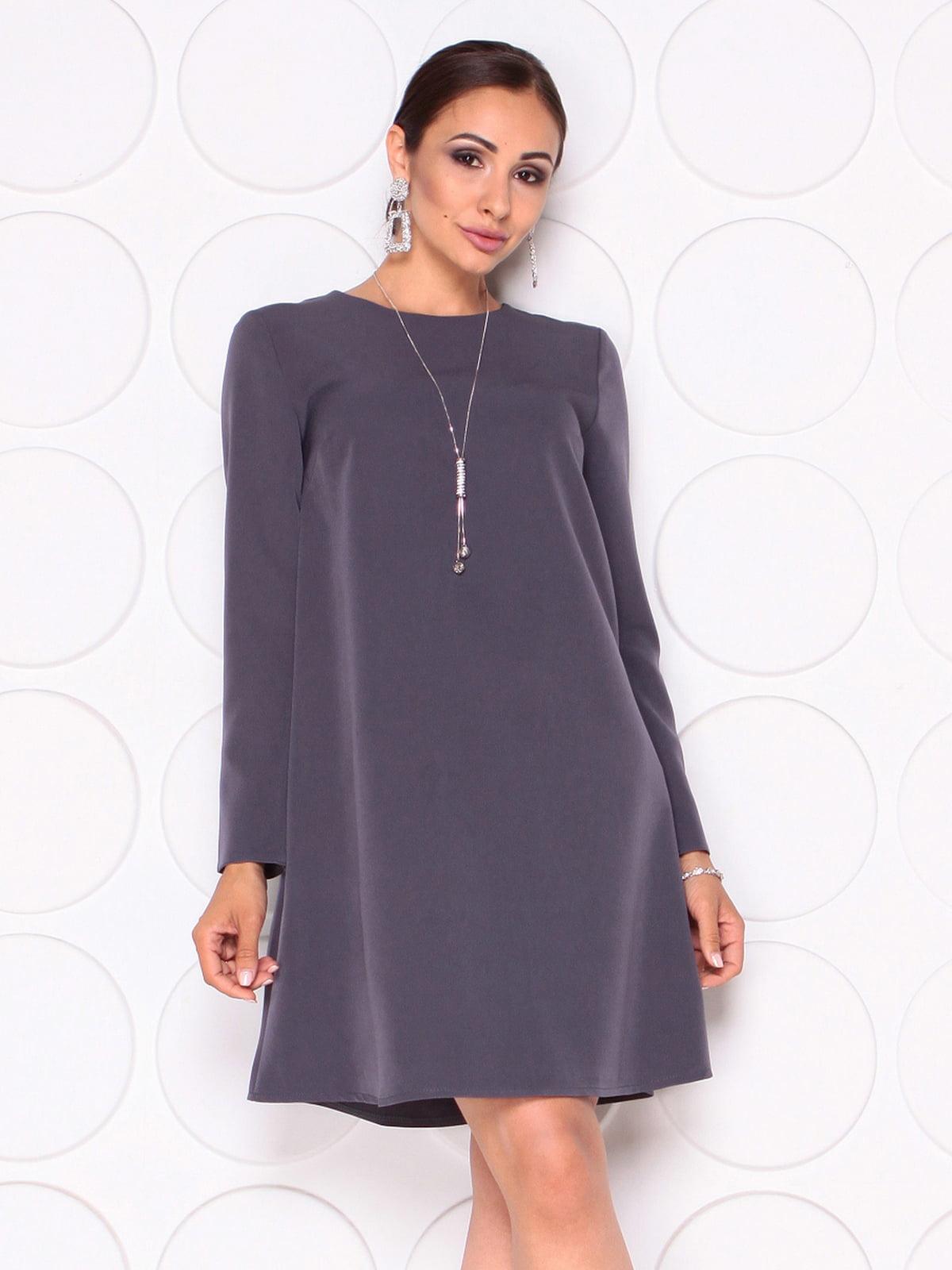 Сукня графітового кольору | 5165150