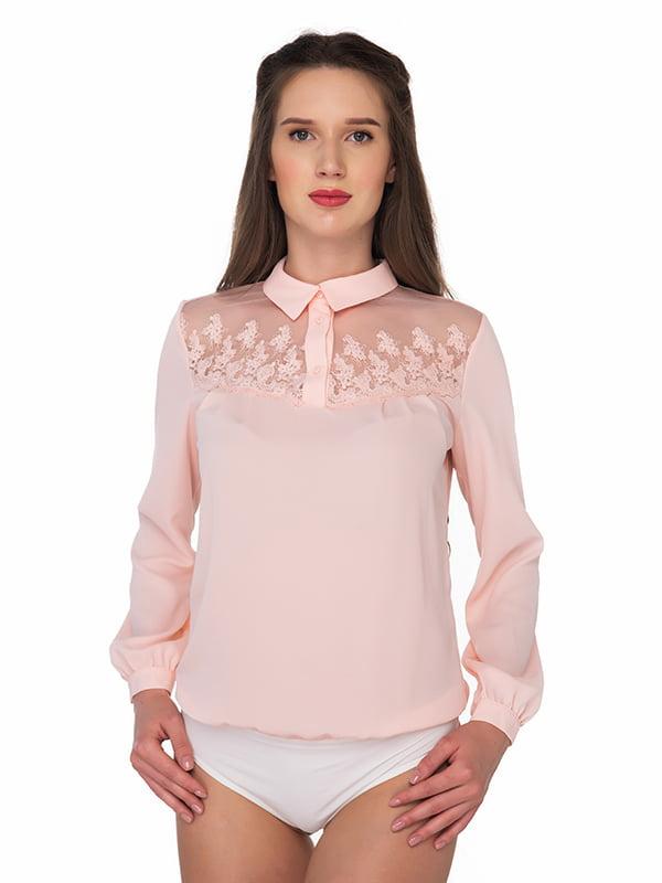 Блуза-боди розовая | 5170238