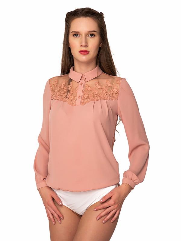 Блуза-боди пудрового цвета | 5170241