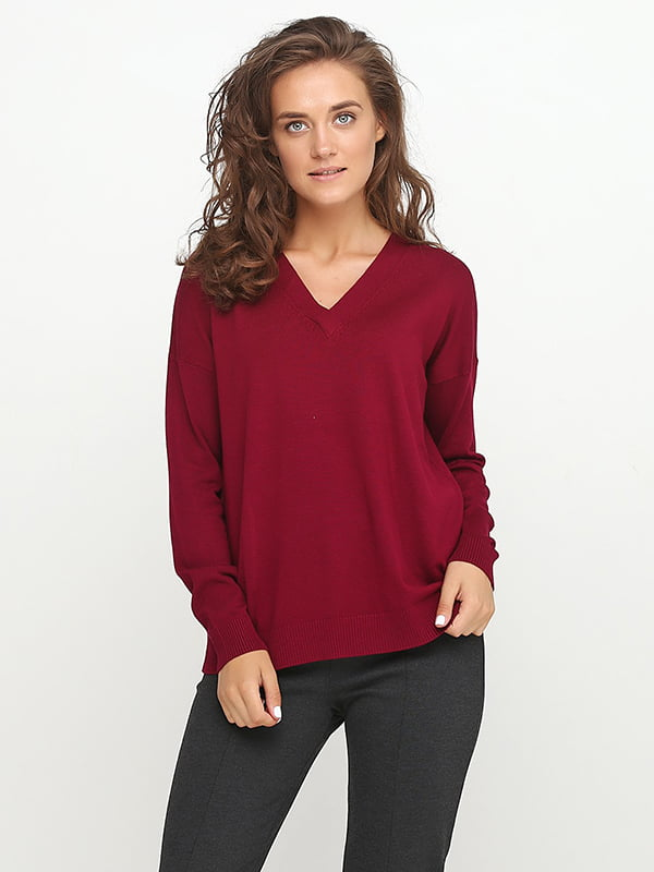 Пуловер сливового цвета | 5170469
