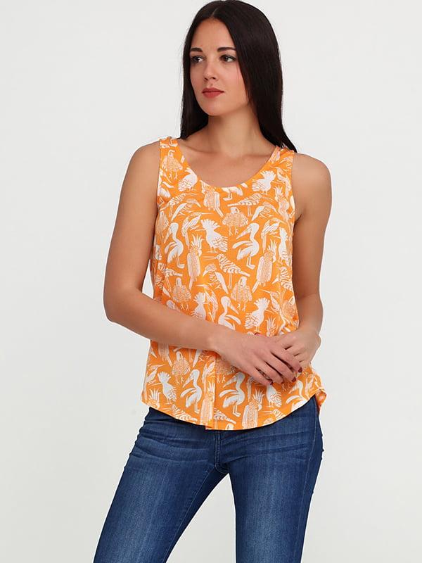 Майка морковного цвета | 5170660