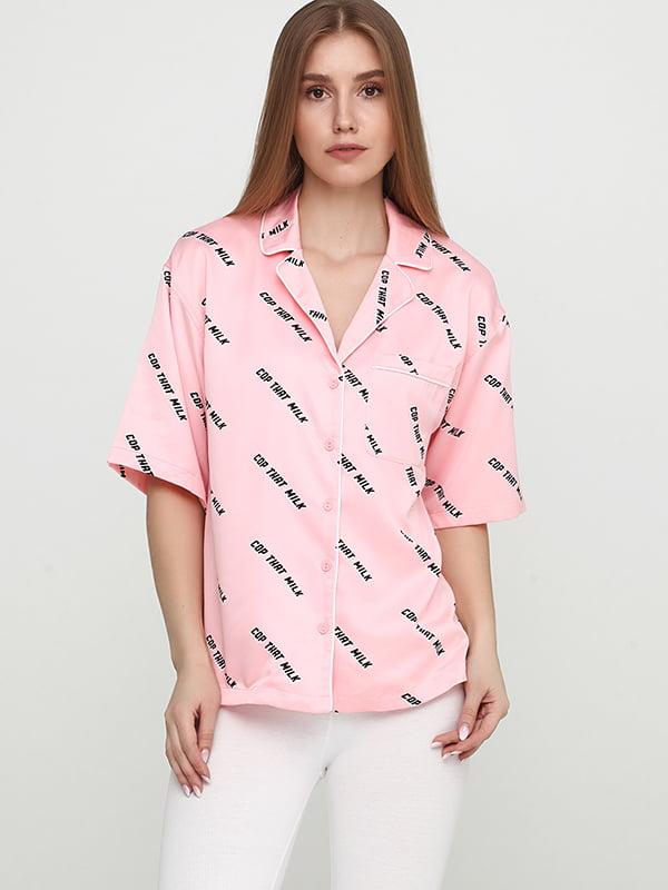 Рубашка розовая | 5171557