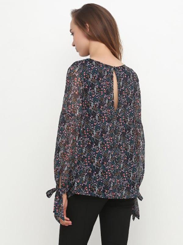 Блуза чорна в принт | 5171202