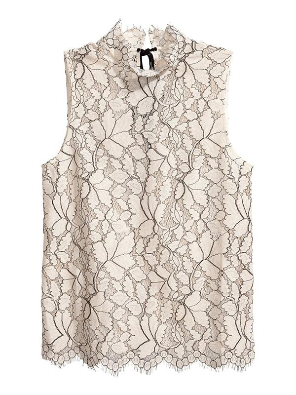 Блуза молочного кольору в принт | 5171130