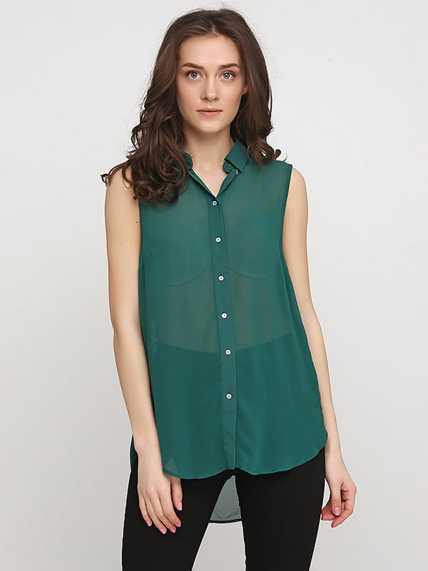 Блуза цвета морской волны | 5171298