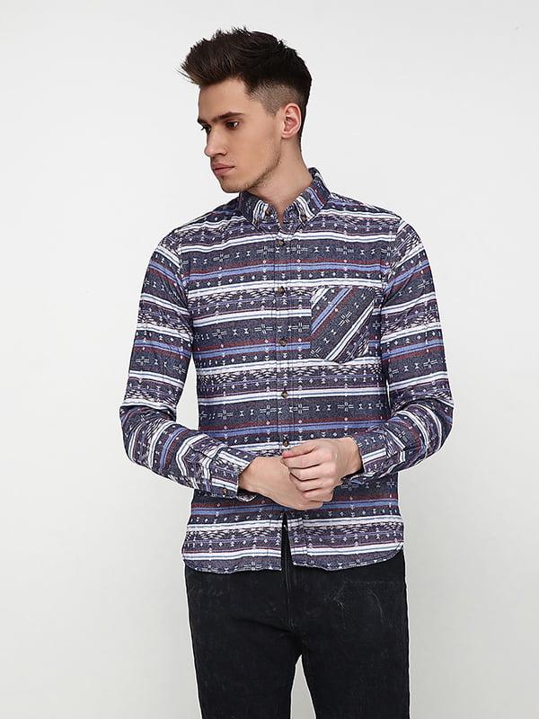 Рубашка комбинированной расцветки | 5171369