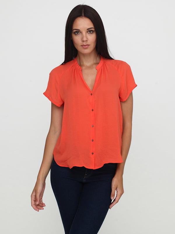 Блуза морквяного кольору | 5171526
