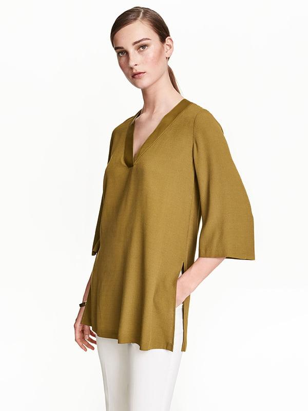 Блуза кольору хакі | 5171783