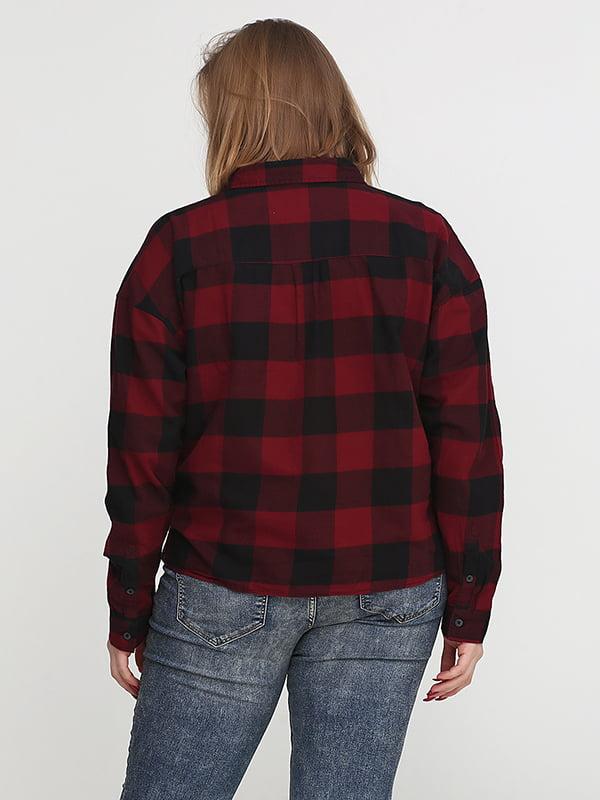 Рубашка бордово-черная | 5172355