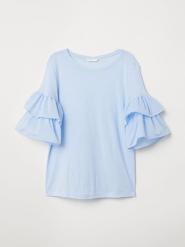 Блуза голубая   5172458