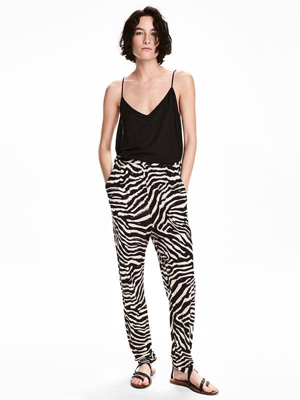Штани чорно-білі | 5170941