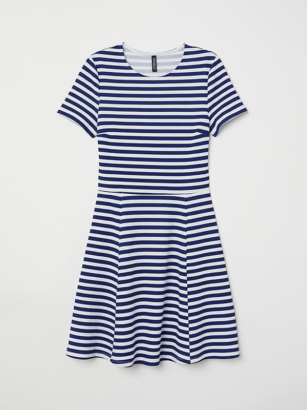 Платье бело-синее | 5172171