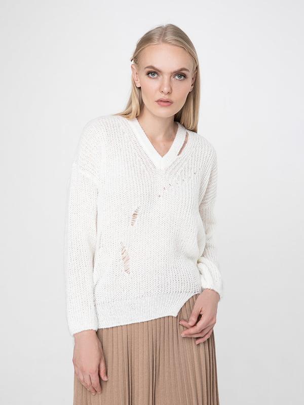 Пуловер білий | 5173535