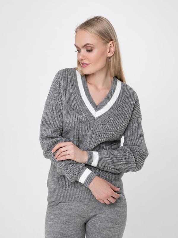 Пуловер сірий | 5173538