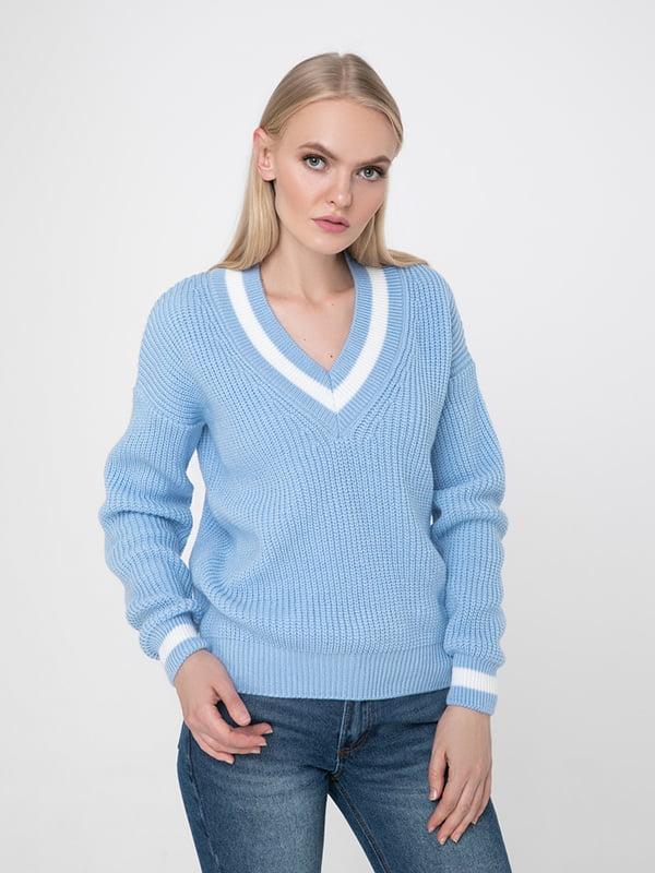 Пуловер блакитний | 5173540