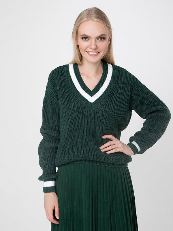 Пуловер смарагдового кольору | 5173541