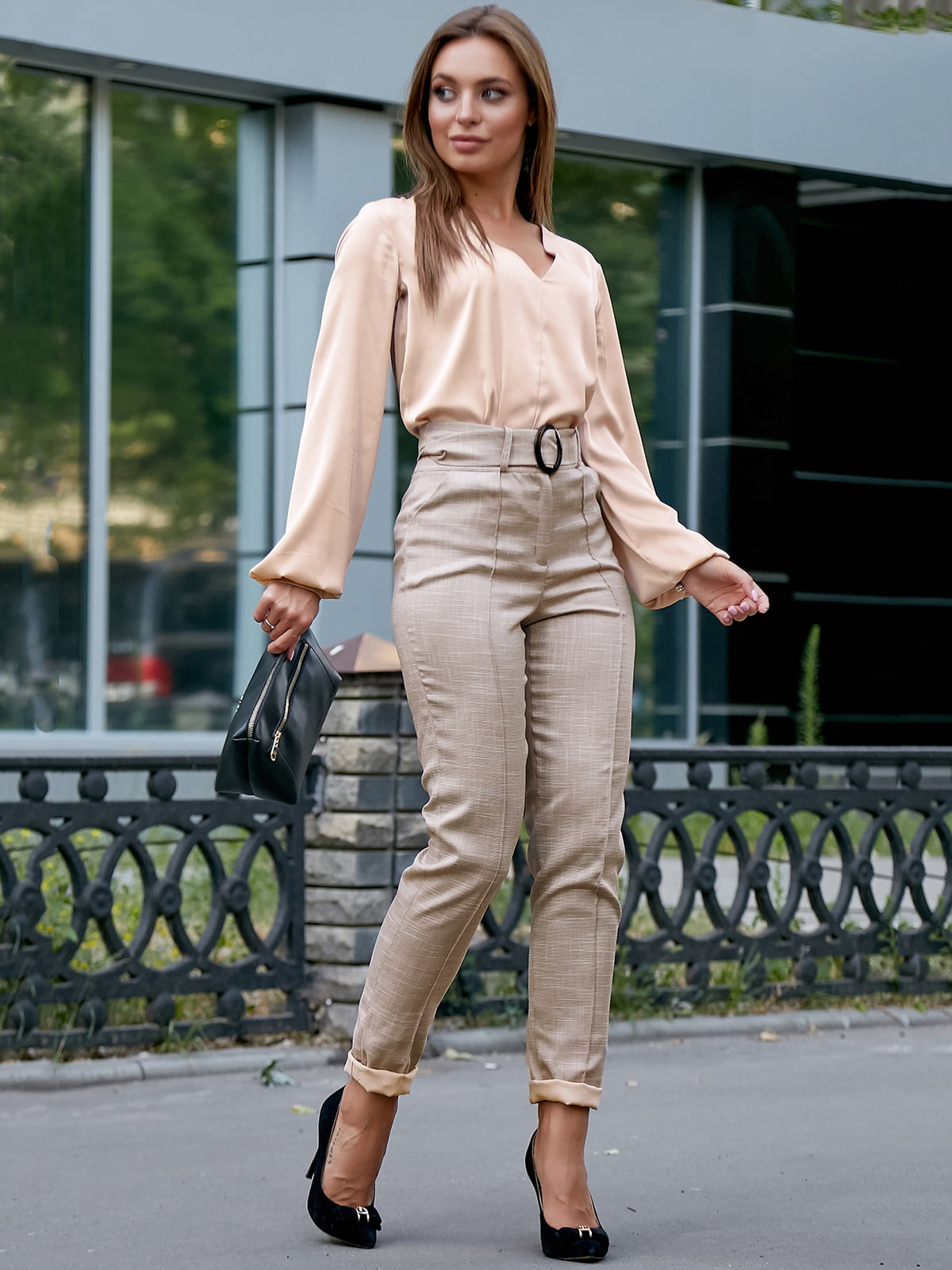 Блуза кофейного цвета | 5174833
