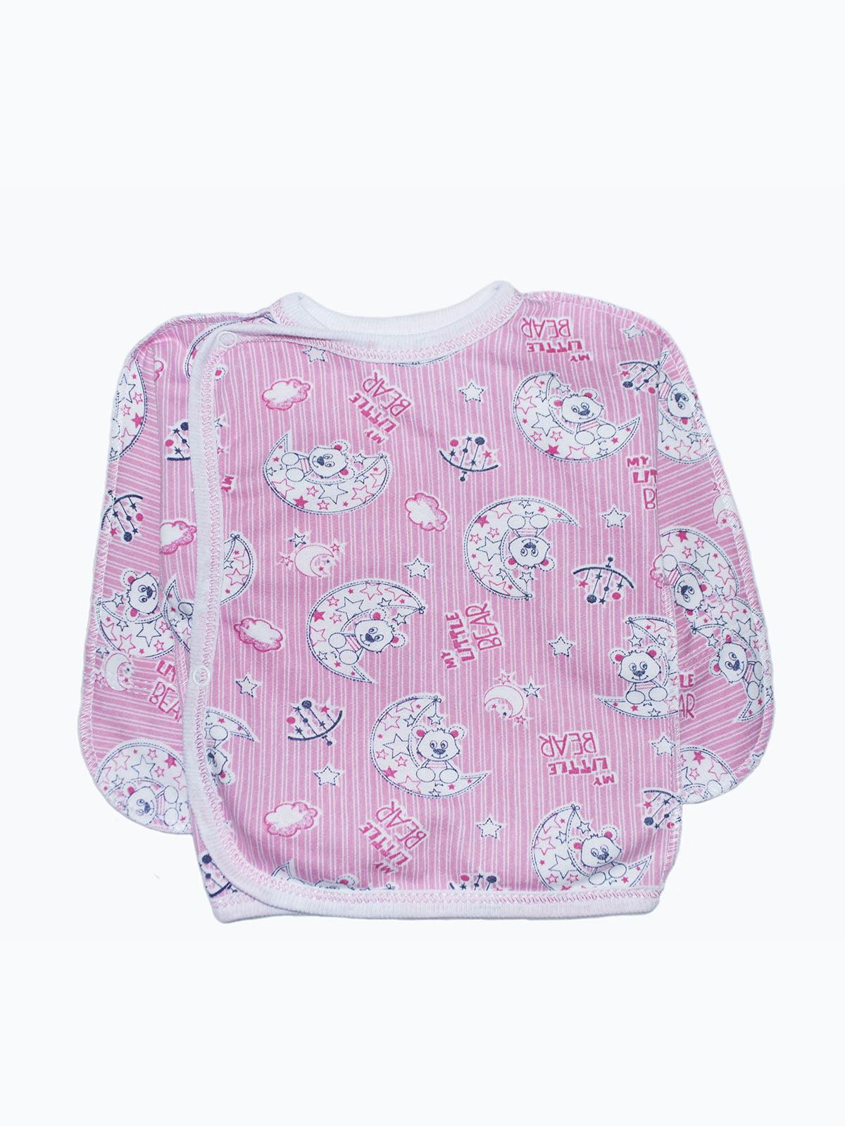 Распашонка розовая с принтом | 5175744