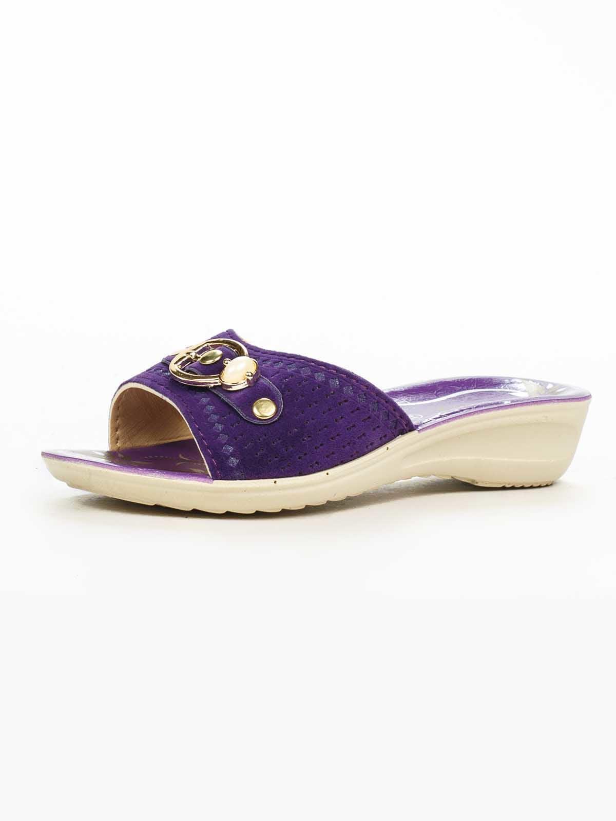 Шлепанці фіолетові | 5163085