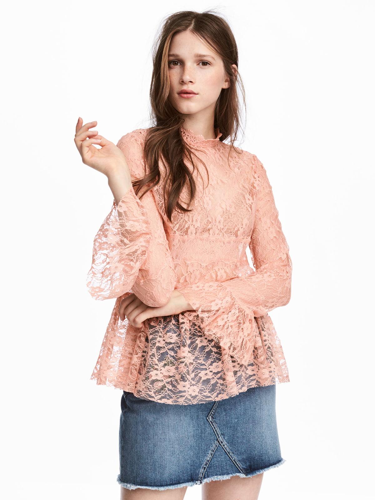 Блуза персикового цвета   5176448