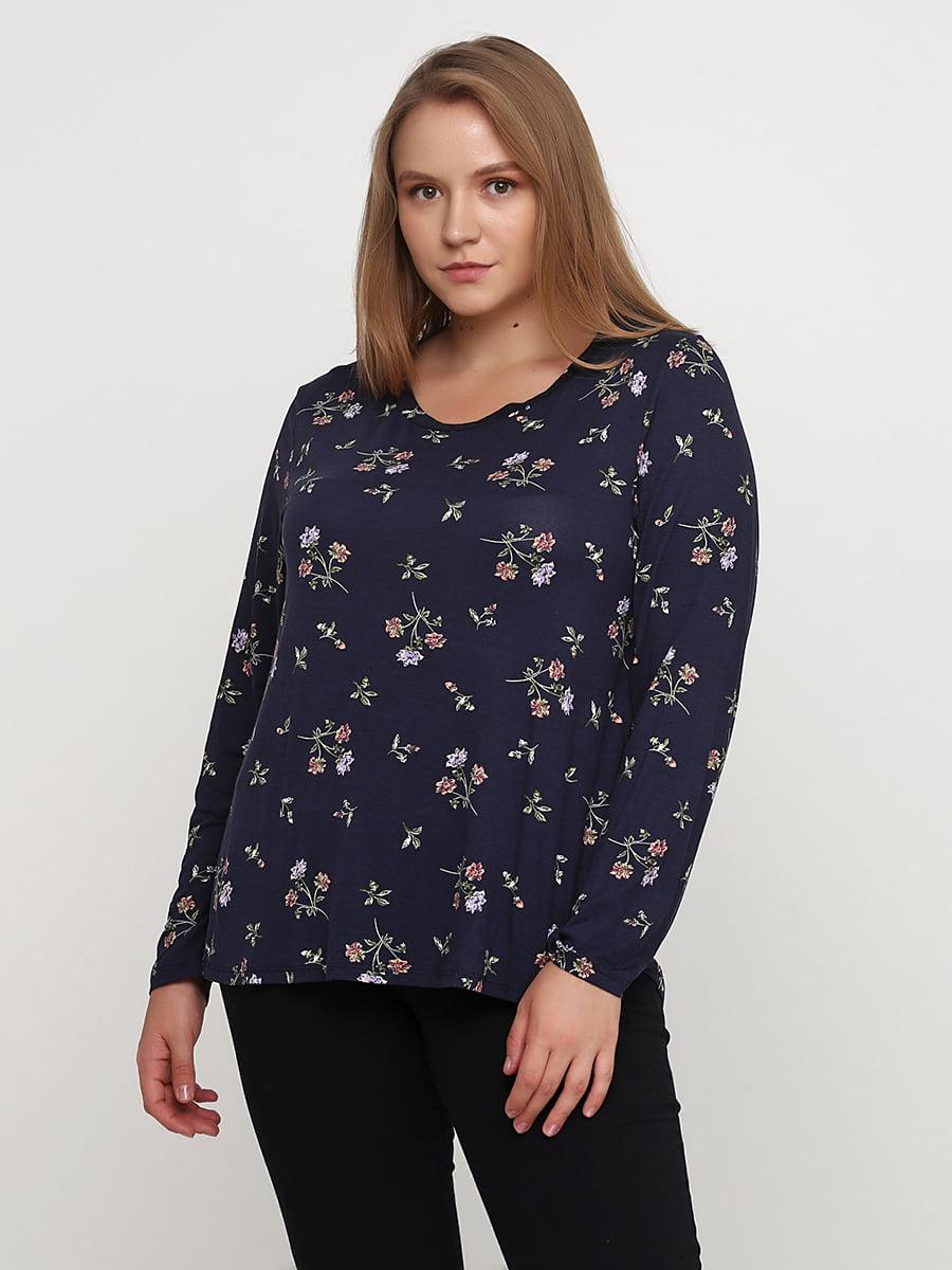 Блуза темно-синяя | 5172835