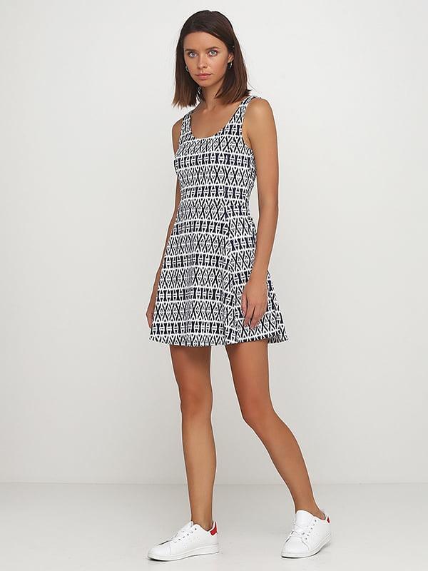 Платье бело-синее | 5170876