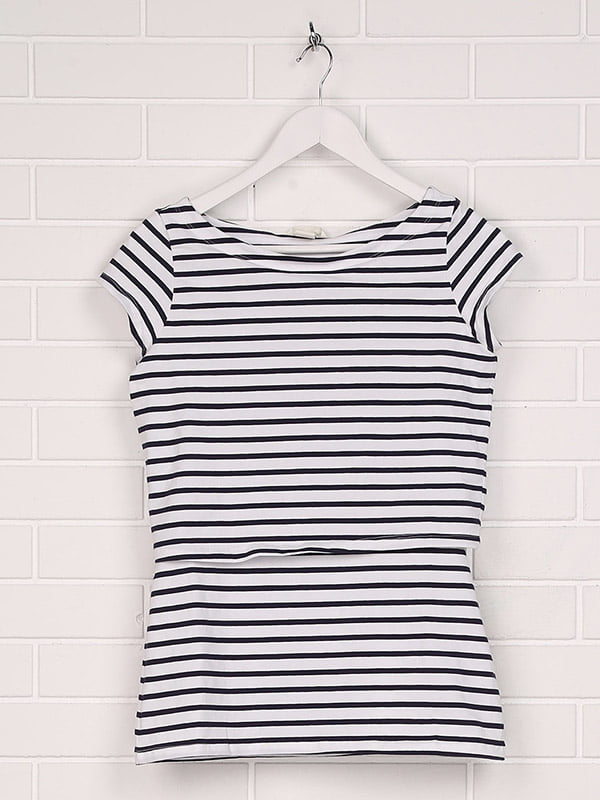 Топ для беременных бело-синий | 5171553