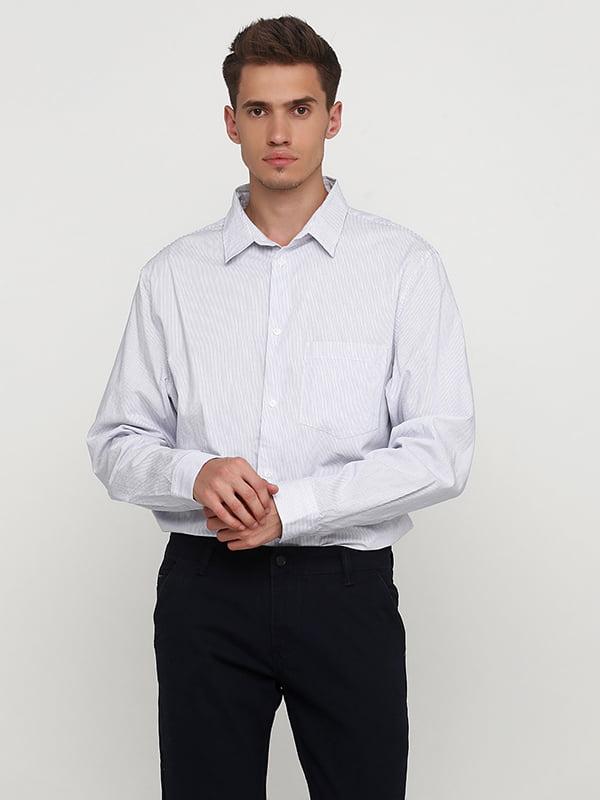 Рубашка бело-синяя | 5172786
