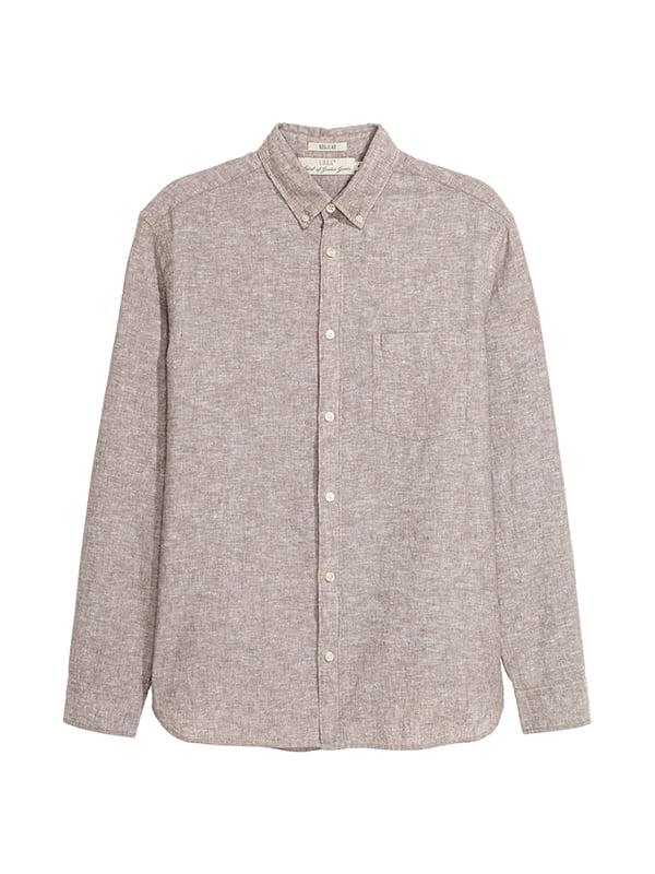 Рубашка темно-бежевая | 5176482