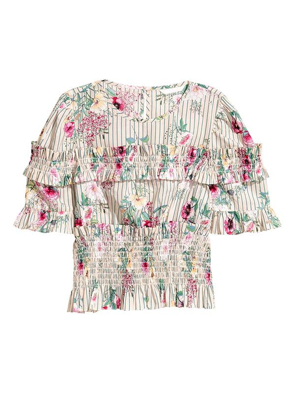 Блуза светло-бежевая | 5176607