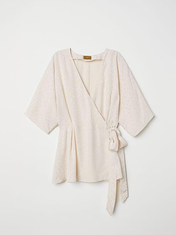 Блуза светло-бежевая | 5176684