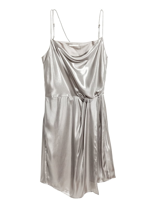Платье серебристое | 5176726