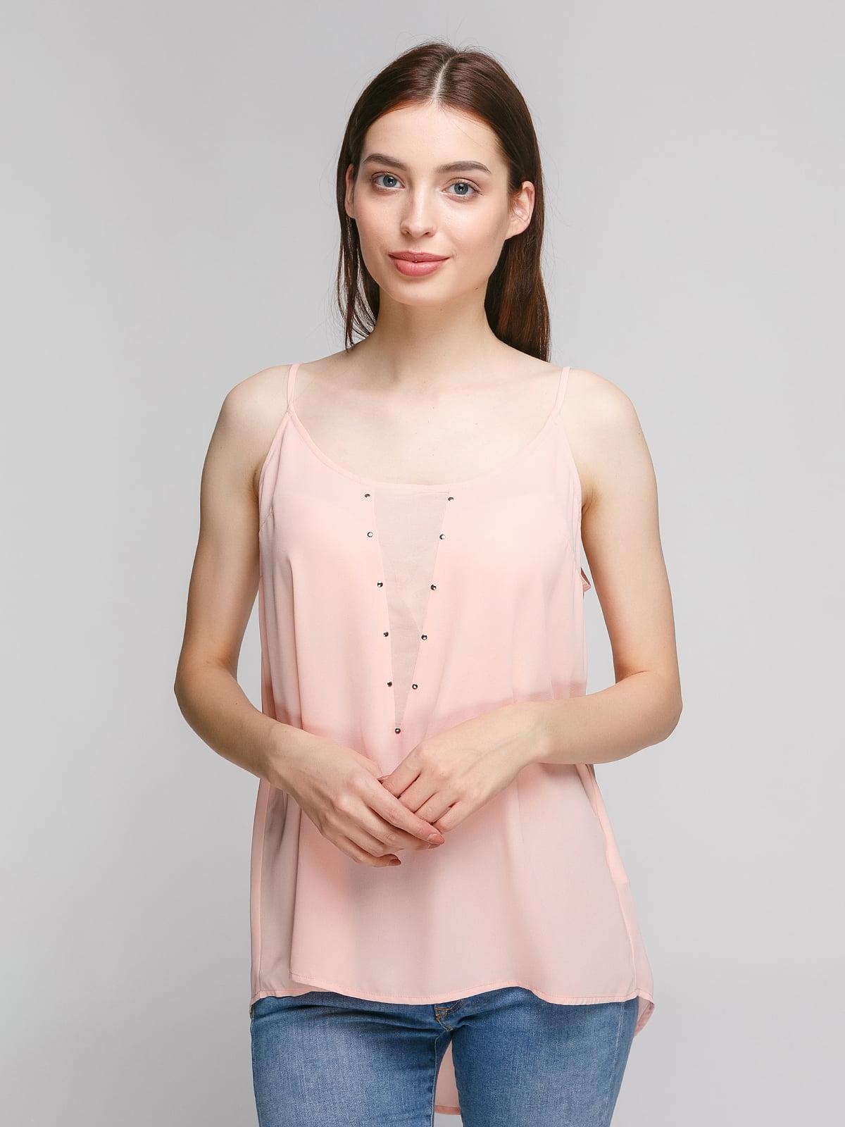 Блуза кольору пудри | 4634548