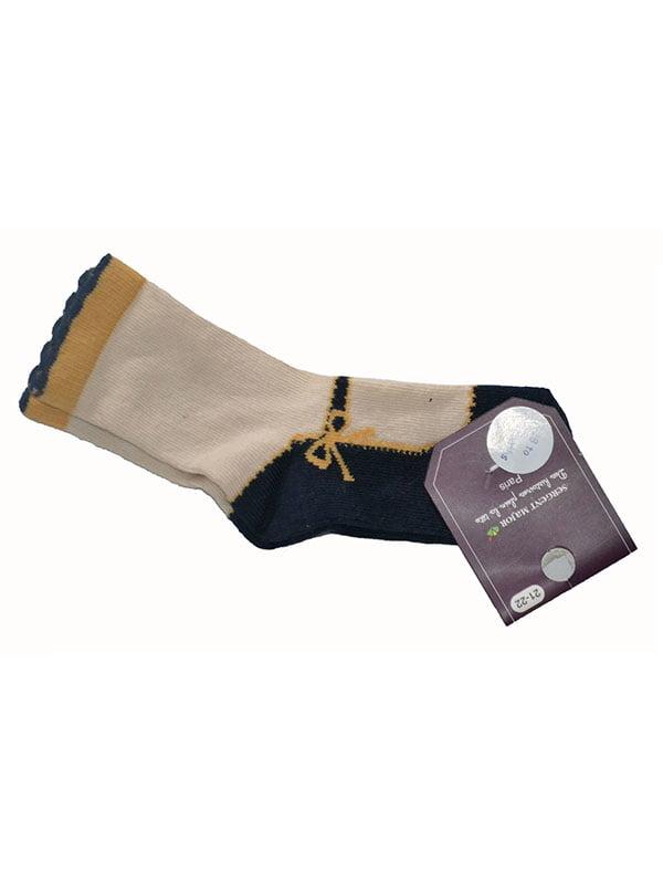 Шкарпетки бежеві з малюнком | 5163023