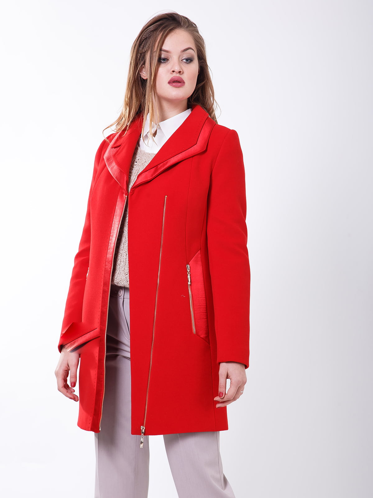 Пальто красное   5179984