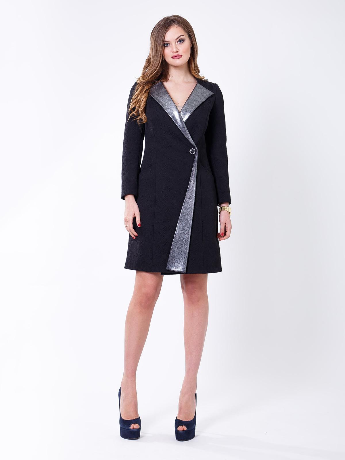 Пальто черно-серебристое   5179989