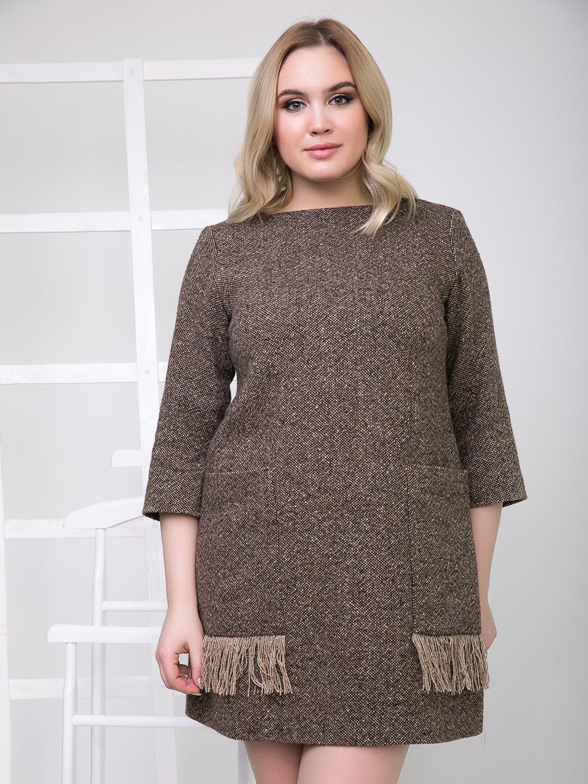 Платье коричневое | 5180060